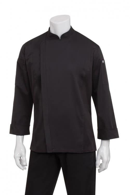 chef jacket with zip