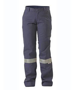 Bisley women's drill pant with tape (BPL6007T)