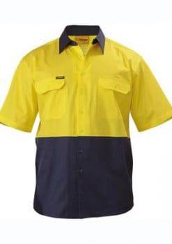 Bisley-Two-Tone-Cool-Lightweight-Short-Sleeve-Drill-Shirt-1115