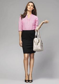 Bordeaux-3-4-Sleeve-Shirt-Ladies-1115