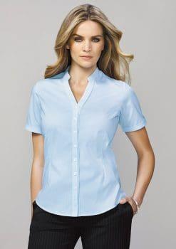 Bordeaux-Short-Sleeve-Shirt-Ladies-1115
