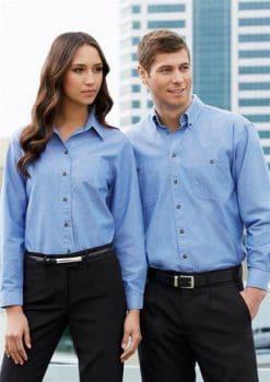 Chambray-Shirt-Ladies-Mens-1115