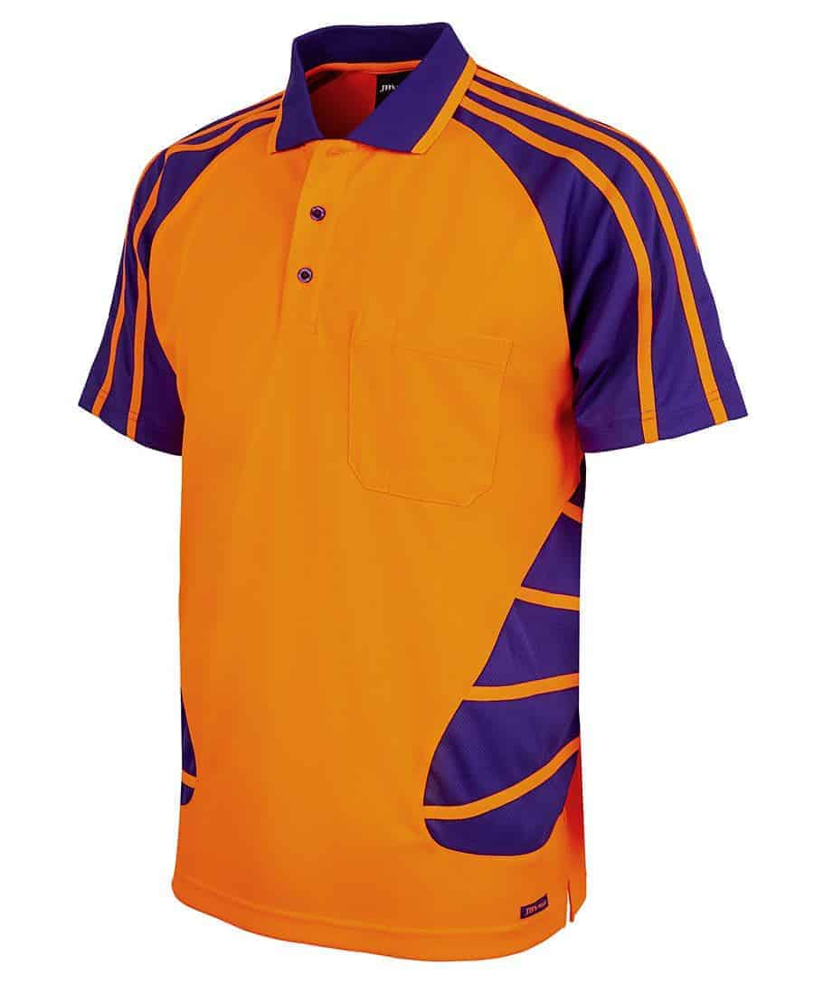 Hi vis short sleeve spider polo for Wholesale high visibility shirts