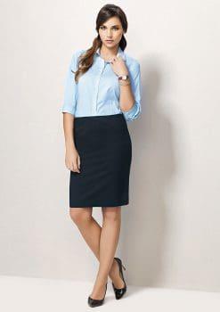 Ladies-Chevron-Band-Skirt-Plain-1115