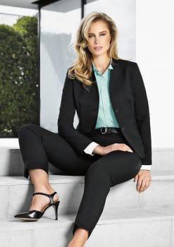 Ladies-Short-Jacket-with-Reverse-Lapel-Plain-1115