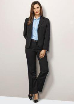 Ladies-Short-Mid-Length-Jacket-Pinstripe-1115