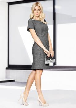 Ladies-Short-Sleeve-Shift-Dress-1115