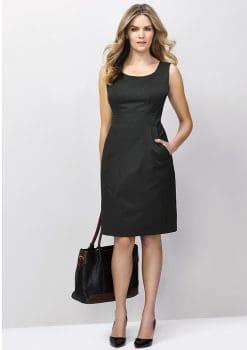 Ladies-Sleeveless-Side-Zip-Dress-Plain-1115