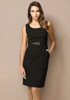 Ladies-Sleeveless-Side-Zip-Dress-Wool-Stretch-1115