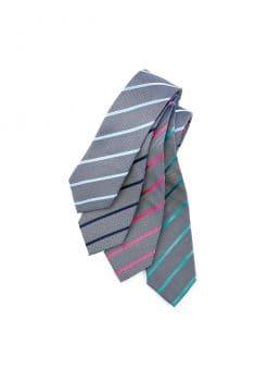 Mens-Single-Contrast-Stripe-Tie-1115