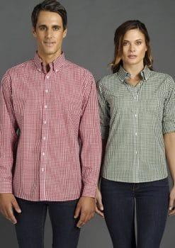 Miller-Gingham-Check-Shirt-Mens-Ladies-1115