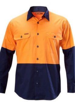 Yakka-Koolgear-Two-Tone-Long-Sleeve-Drill-Shirt-1115