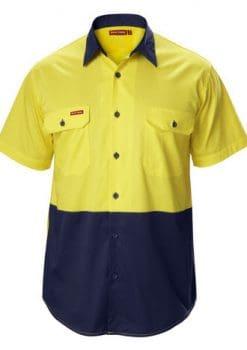 Yakka-Koolgear-Two-Tone-Short-Sleeve-Drill-Shirt-1115