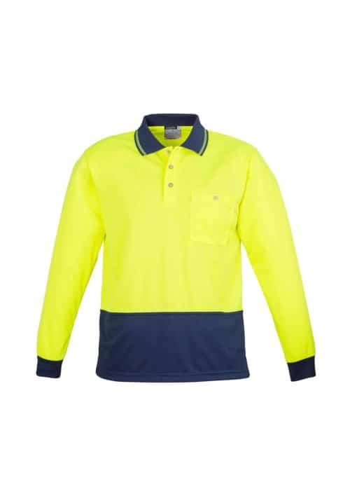 Hi Vis Basic Spliced Polo - Long Sleeve