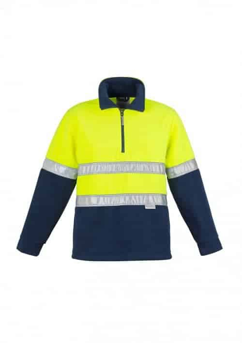 Hi Vis Fleece Jumper - Hoop Taped