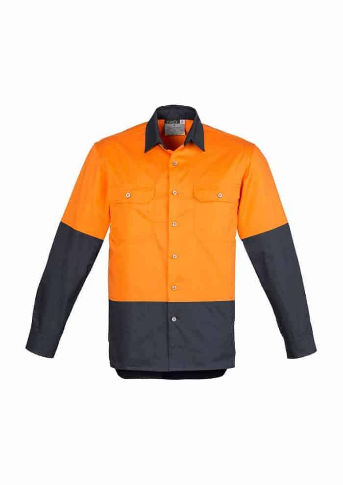 Mens Hi Vis Spliced Industrial Shirt