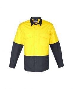 Unisex Hi Vis Spliced Rugged Shirt