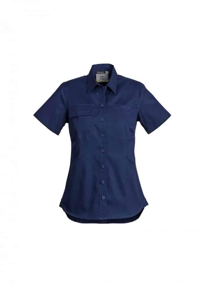 Womens Lightweight Tradie Shirt - Short Sleeve