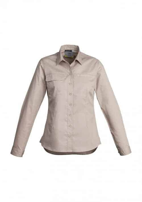 Womens Lightweight Tradie Shirt - Long Sleeve
